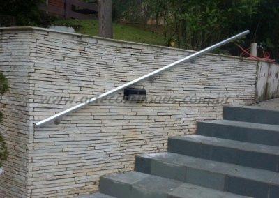 corrimão de aluminio de parede