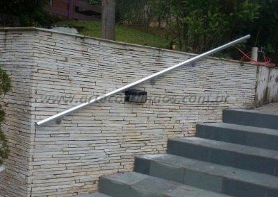 corrimão de aluminio para parede