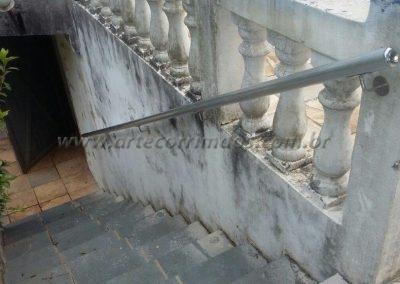 corrimão de aluminio redondo para parede