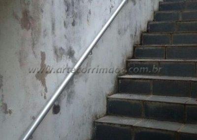 corrimão de parede em aluminio escada