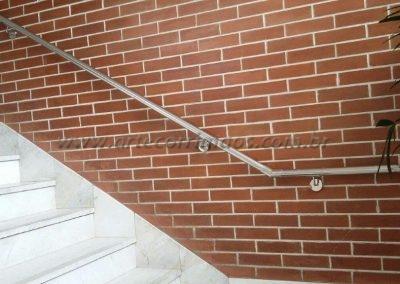 corrimão de parede inox curvas nas pontas