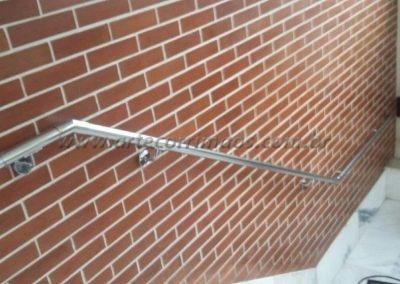corrimão de parede inox pontas curvas