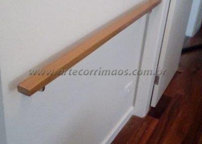 corrimão parede madeira retangular