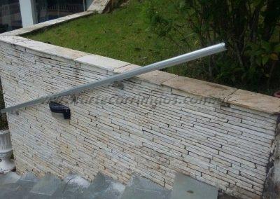 corrimao aluminio parede externa