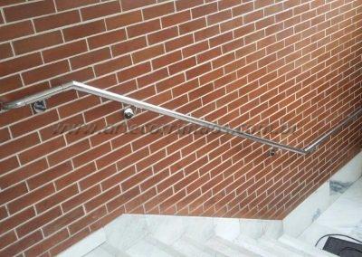 corrimao inox parede na escada