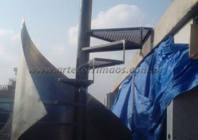 kit escada caracol ferro