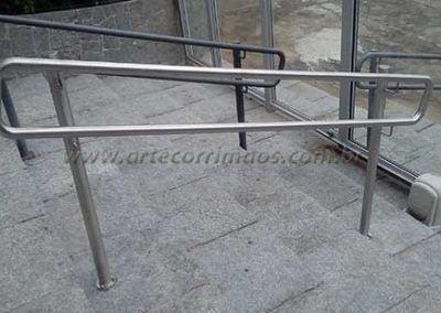 Guarda Corpo Acessibilidade Simples em aço inox na escada