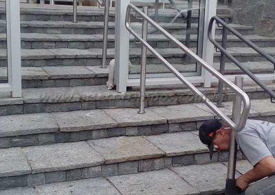 Guarda Corpo Acessibilidade Simples na escada recepção