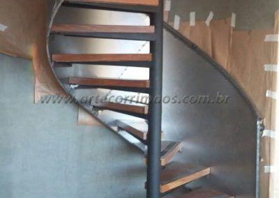 Guarda Corpo De Chapa De Aço Curva em caracol escada interna