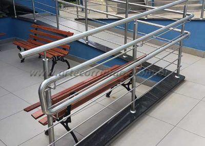 Guarda Corpo De Inox Com Fechamento de tubos