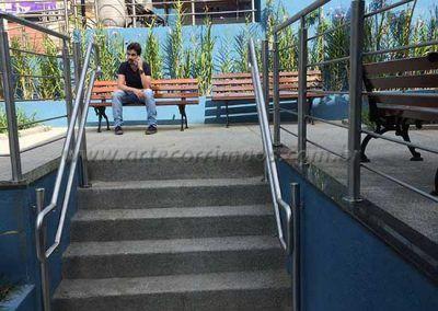 Guarda Corpo De Inox Com Fechamento escada