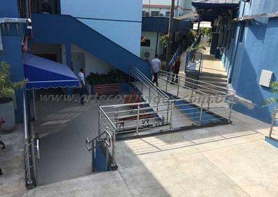 Guarda Corpo De Inox Com Fechamento rampas e escada