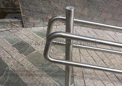 guarda corpo de aço inos duplo acessibilidade