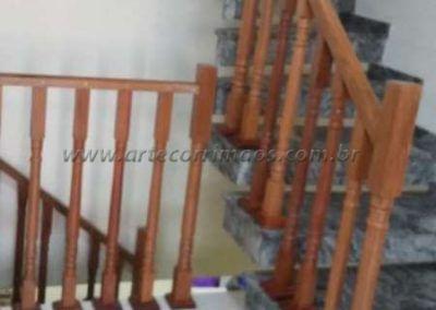 Guarda corpo de balaustre de interno madeira jatoba