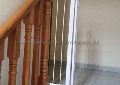 Guarda corpo top de escada de balaustre de madeira jatoba