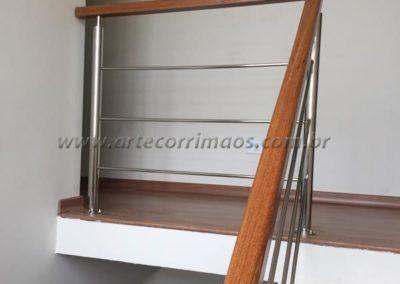 GUARDA CORPO INOX E MADEIRA 4